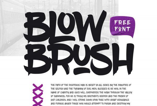 Blow Brush - Font Free download - Onigrama Apresentações